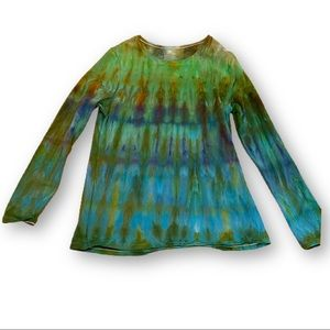 Tie dyed watercolor long sleeve top XL